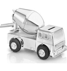 Zilverstad Verzilverde spaarpot cementwagen