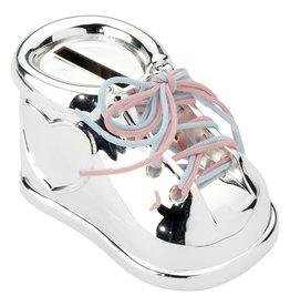 Zilverstad Verzilverde spaarpot schoen