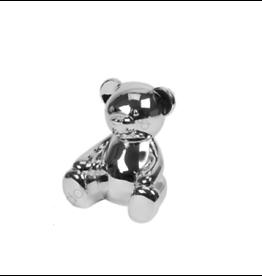 Bambino Verzilverde spaarpot teddybeer