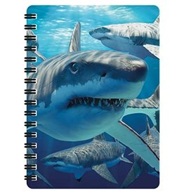 3D Notebook Great White Sharks