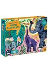 "Mudpuppy Endangered Species Puzzle ""Asian Elephants"""