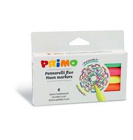 Primo Viltstiften Neon 6 stuks