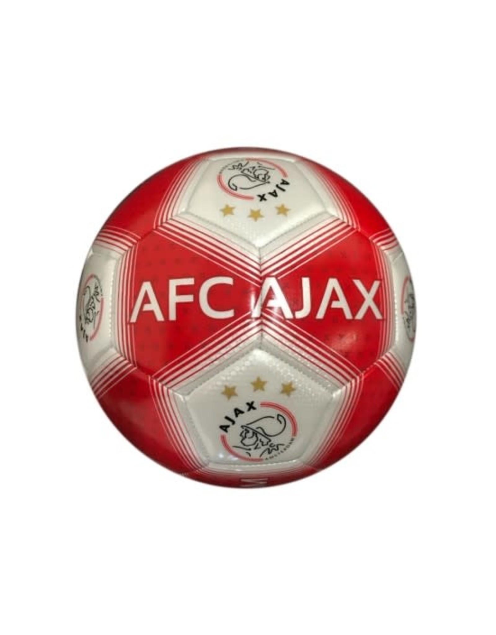 Ajax Bal Middel Rood/Wit Streep