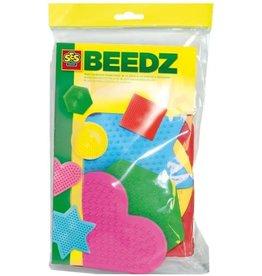 SES Beedz Strijkkralen Bordjes 5-pack vormen