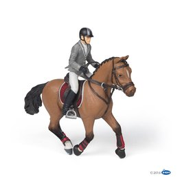 Papo Wedstrijdpaard met Ruiter (Papo 51561)