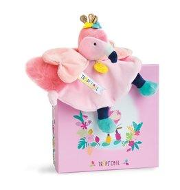 DouDou Tropi'Cool Flamingo Knuffeldoek
