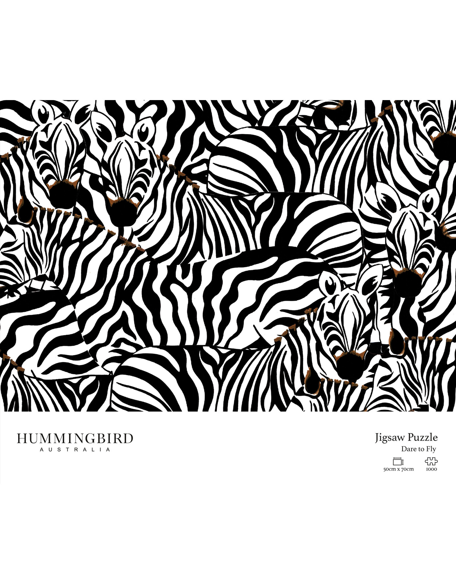 "Hummingbird Australia 1000 pc Jigsaw Puzzle ""Dare to Fly"""