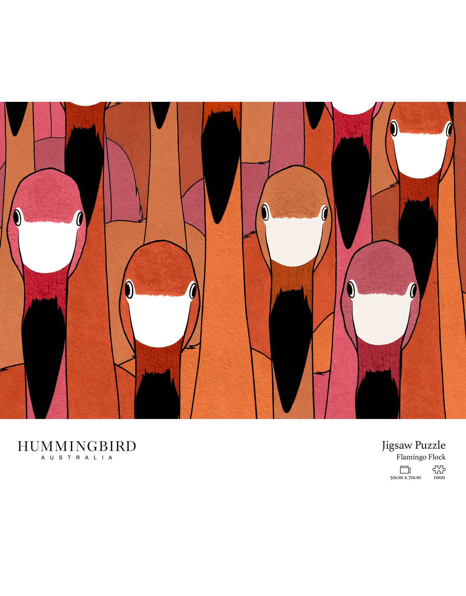 "Hummingbird Australia 1000 pc Jigsaw Puzzle ""Flamingo Flock"""
