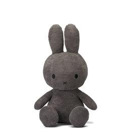 nijntje Miffy Sitting Corduroy Grey 70 cm