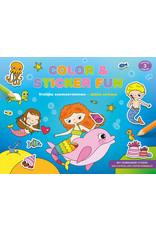 Deltas Color & Sticker Fun – Vrolijke zeemeerminnen
