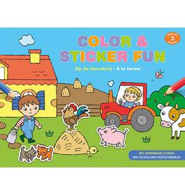 Deltas Color & Sticker Fun - Op de boerderij