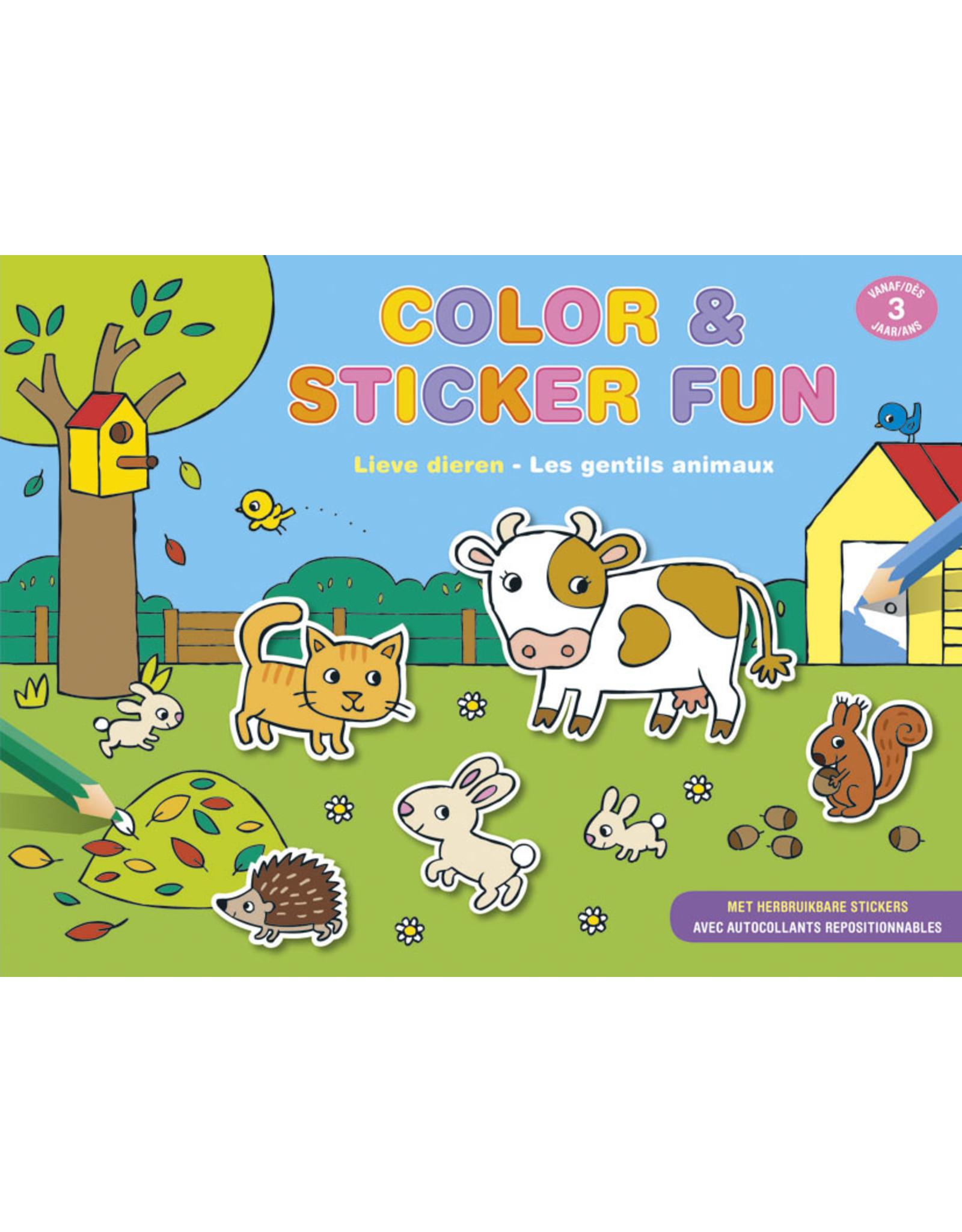 Deltas Color & Sticker Fun - Lieve dieren