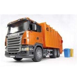Bruder Bruder 3560 - Vuilniswagen Oranje