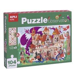 """APLI Observeer Puzzel """"Kasteel"""" 104-delig"""