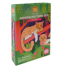 Tiger Tribe Hidden Pattern Colouring Set Animals