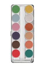 Kryolan Aquacolor Interferenz palette 12 colors,