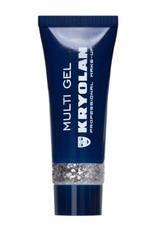 Kryolan Multigel Glitter type Coarse kleur Silver