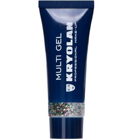 Kryolan Multigel Glitter kleur Coarse Multicolor