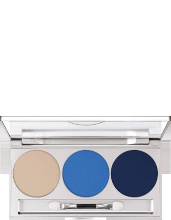Kryolan Eye Shadow Trio Set Blue Aura Matt / Iridescent