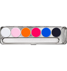 Kryolan Aquacolor day glow effects palette 6kl