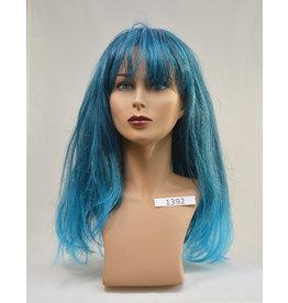 Peels haarmode Pruik Blauw