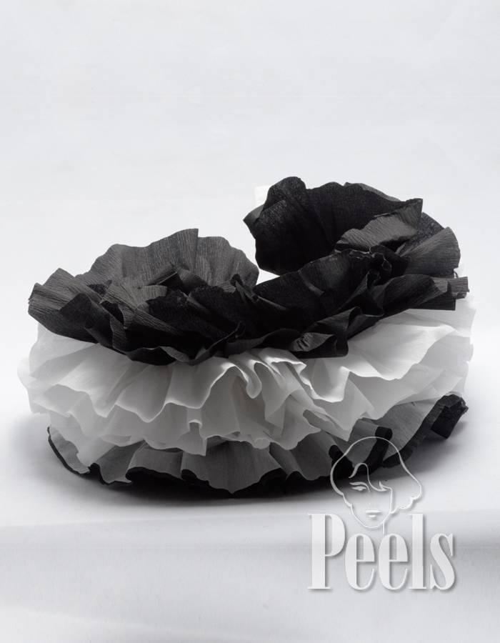 Peels haarmode Papieren Zwarte Pieten Kraag 2 kleuren