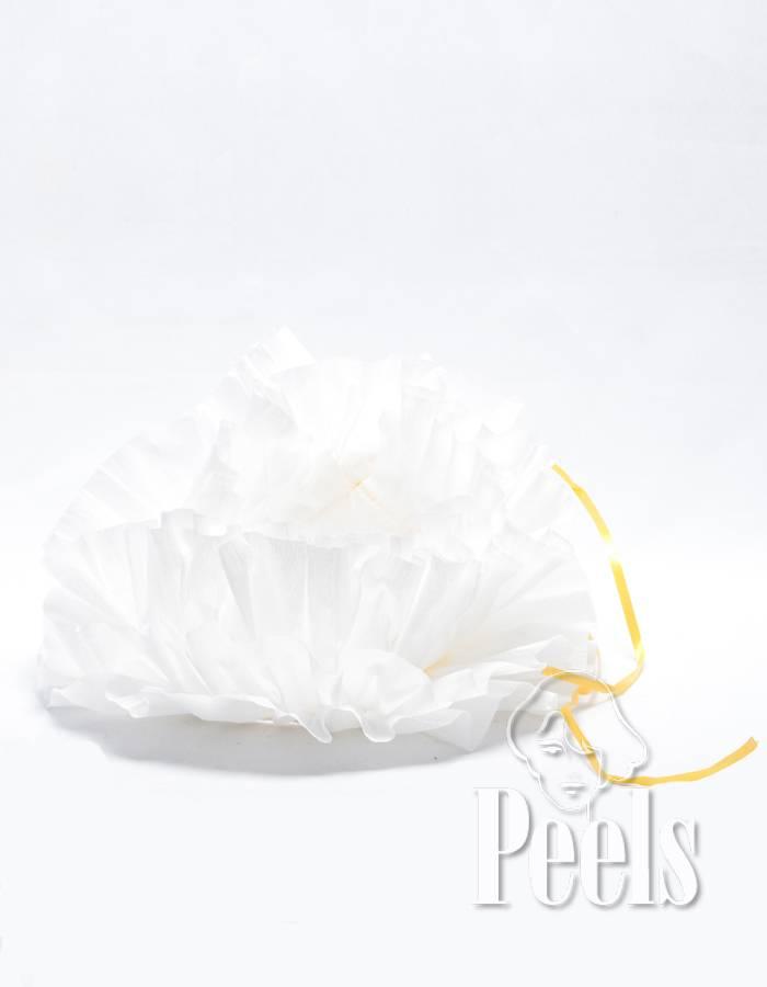 Peels haarmode Wegwerp pietenkraag van crêpepapier.
