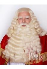 Peels haarmode Sinterklaasbaard en pruik deluxe filmtule verlengd