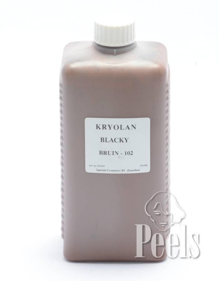 Kryolan Piet schmink op alcoholbasis 500ml - kleurcode 102 - Kryolan Blacky