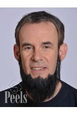 Kryolan Handgeknoopte volle baard van echt haar, recht gesneden, type 9235