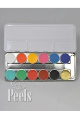 Kryolan Aquacolor palette 12 colors kleur FP