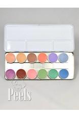 Kryolan Aquacolor palette 12 colors kleur P