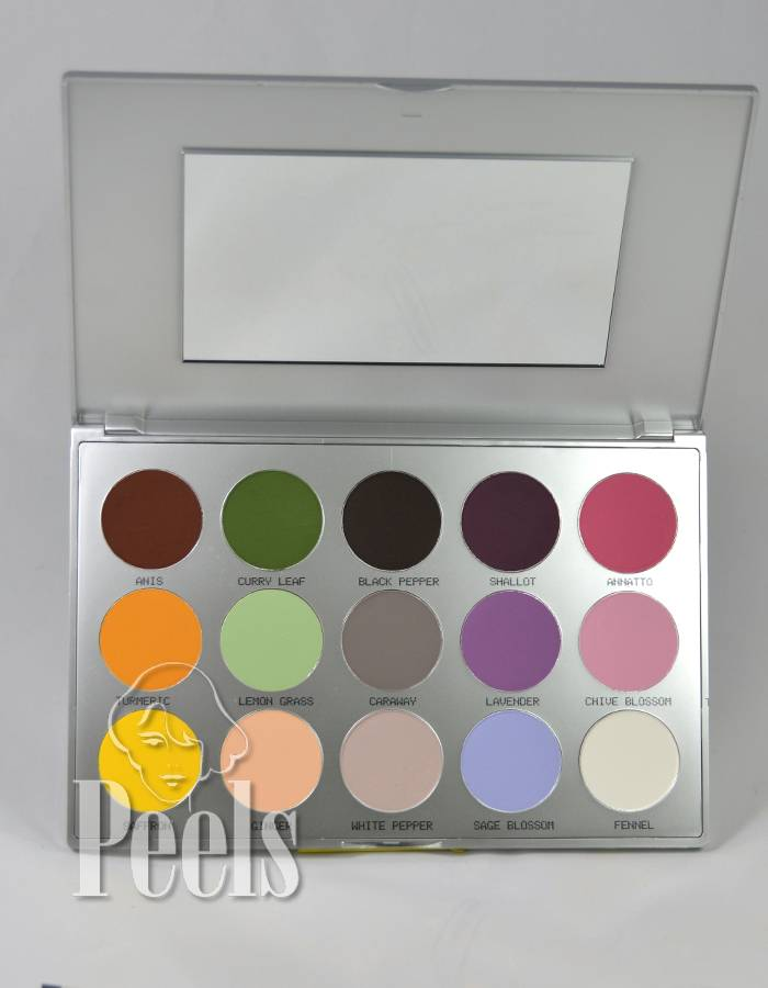 Kryolan Viva Matt Color Palette, 15 colors, kleur Sun