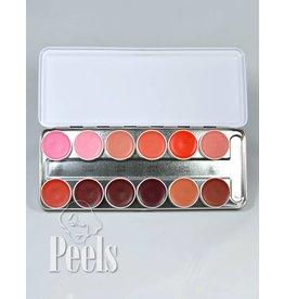 Kryolan Lip-rouge palette 12 kleuren classic 1