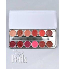 Kryolan Lip-rouge palette 12 kleuren classic 2
