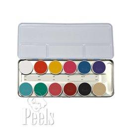 Kryolan Aquacolor palette kleur FP