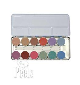Kryolan Aquacolor palette kleur P