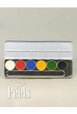 Kryolan Aquacolor palette 6 colors kleur A
