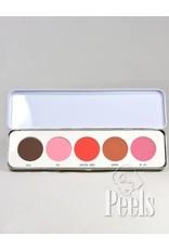 Kryolan Blusher Palette 5 matte kleuren