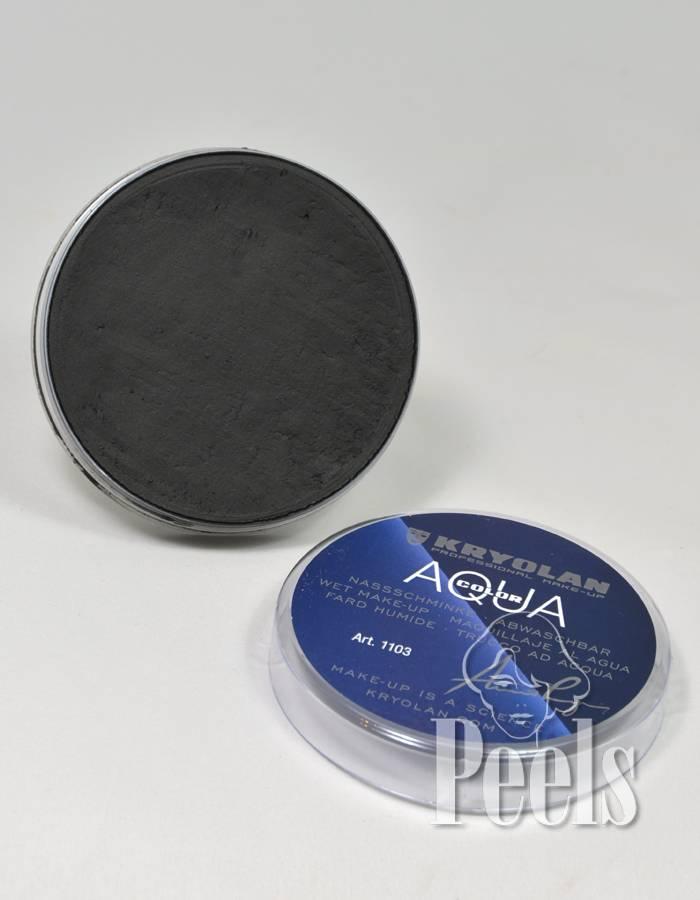 Kryolan Kryolan Aquacolor 55 ml - Zwart - Kleurcode 071 - Ook voor Zwarte Piet