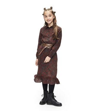 Retour Jeans Meisjes winter jurk - Esther - Brique