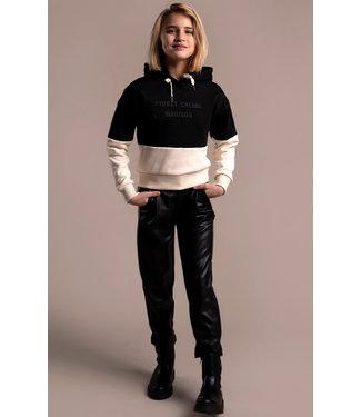 Street called Madison Meisjes winter broek - Luna vegan leather Yara - Zwart
