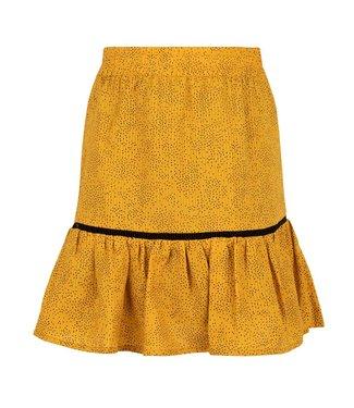 Indian Blue Jeans Meisjes winter rok stippen - Mosterd goud