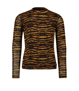 Like Flo Meisjes winter shirt - AOP mesh - Camel