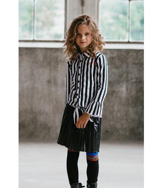 TOPitm Meisjes winter rok - Misty - Zwart nepleer plisee