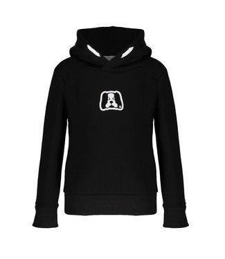 Frankie & Friends Meisjes winter hoodie - Alpaca - 03 BLACK