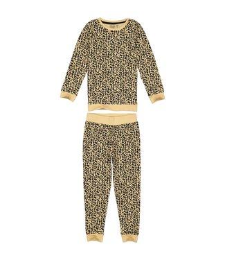 Quapi Meisjes winter pyjama Puck - AOP animal zand