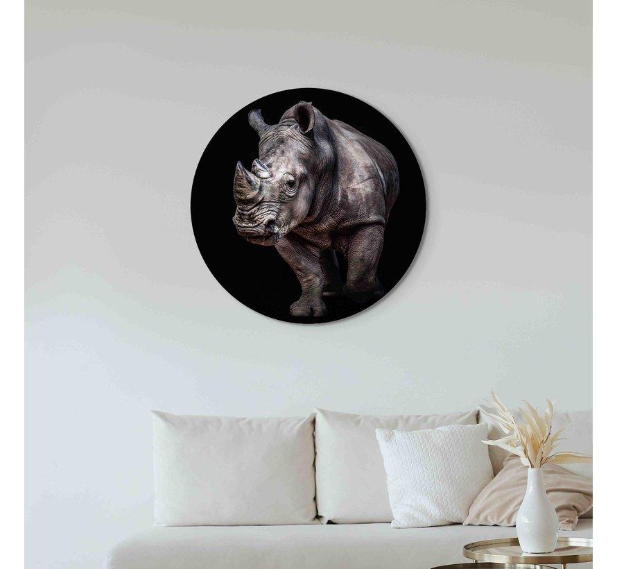 Plexiglas schilderij neushoorn