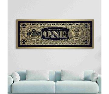 Plexiglas schilderij gouden Dollar