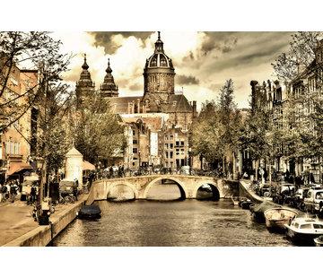 Plexiglas schilderij stad